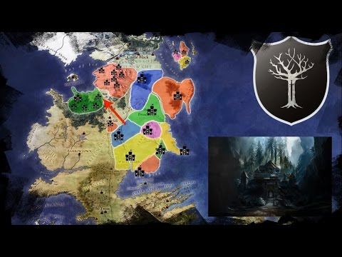 Map of the Known Houses of the North, Their History and Tour Through Winterfell