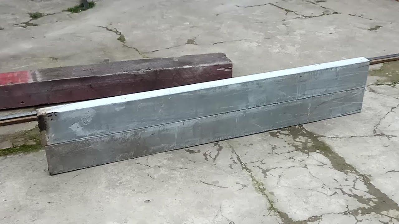 Швеллер для станины токарного станка с приемки - YouTube