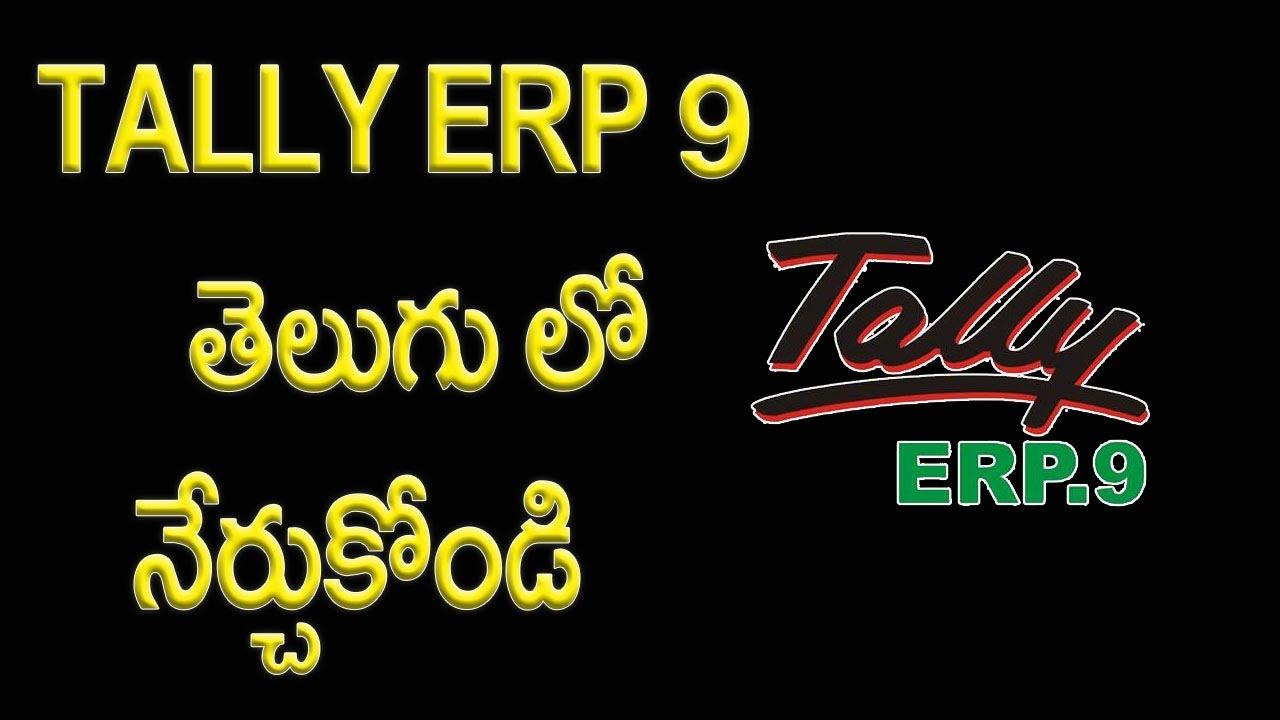 Tally Tutorial In Telugu Pdf