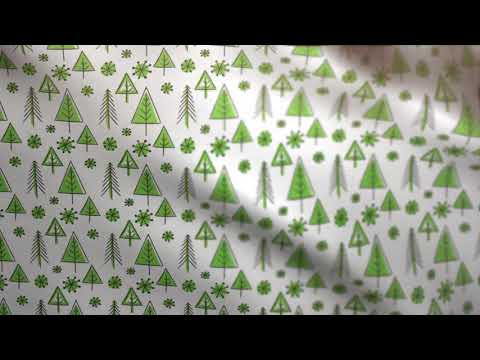 Christmas Background - Fabric Waving (gift wrapping paper) Green // Free Motion Graphics