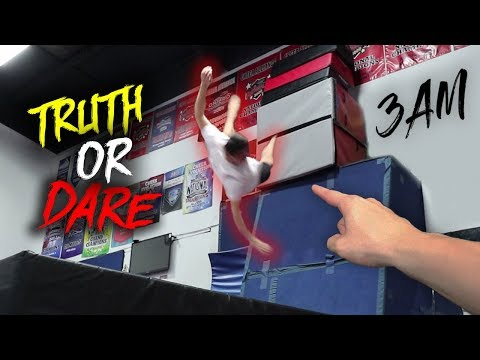 DO NOT PLAY TRUTH OR DARE AT 3 AM!! *I GOT PUSHED OFF*