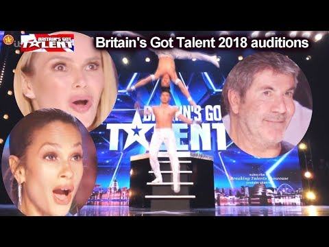 Giang Brothers UNBELIEVABLE HEAD TO HEAD STUNTS  Auditions Britain's Got Talent 2018 BGT S12E02