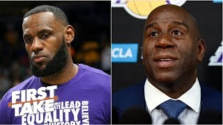 Magic Johnson doesn't deserve a pass for failed 1st season with LeBron - Stephen A. | First Take