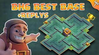 Most Insane Builder Hall Level 6 | BH6 Labyrinth Base Layout +4000Trophies