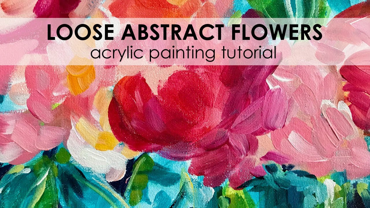 Flower Acrylic Painting Tutorial