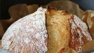 No Knead Bread - Brot ohne Kneten (Recipe in English - in the infobox below)