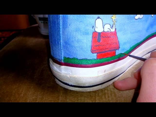 1bb7c31fd69 Custom-made Converse All Star Snoopy shoes – Kiradjieva Athlete And Art