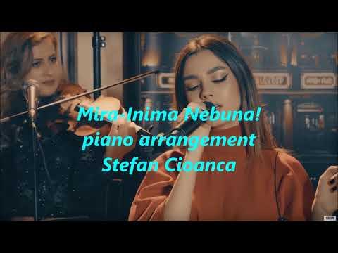 MIRA - INIMA NEBUNA!(live session) PIANO COVER, LYRICS, KARAOKE