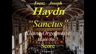 Haydn Kleine Orgelmesse Hob XXII 7 Sanctus Score