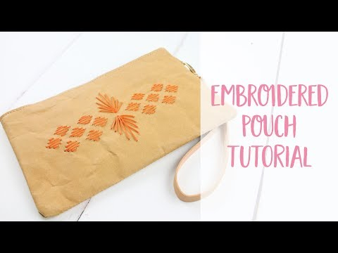 Stitched Embroidered Paper Pouch DIY Tutorial | Craftiosity | Craft Kit Subscription Box