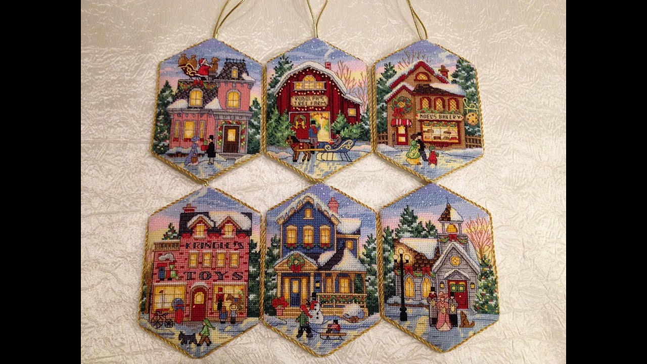 схема вышивки крестом рождество орнамент