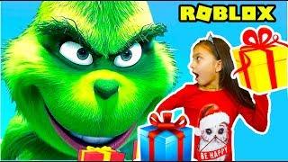 - ГРИНЧ похититель Рождества Спасаем Новый год в Роблокс Roblox Escape The Grinch CHRISTMAS Валеришка