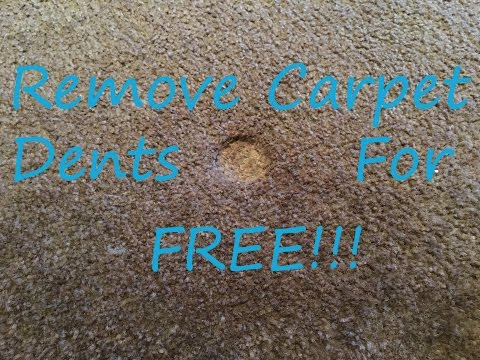 Carpet Dents and Divots - How to Easily Remove Them For FREE!