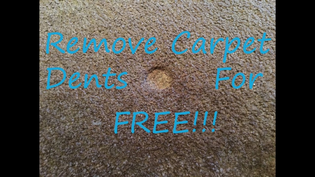how to get out carpet dents