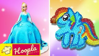 Disney Frozen Elsa Doll Cake | Birthday Cake Decorating for Beginners by Hoopla Recipes