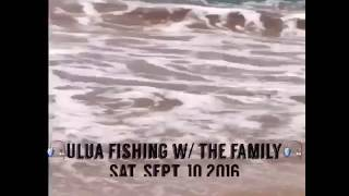 maui ulua fishing giant trevally fishing rare 34lb kagami ulua