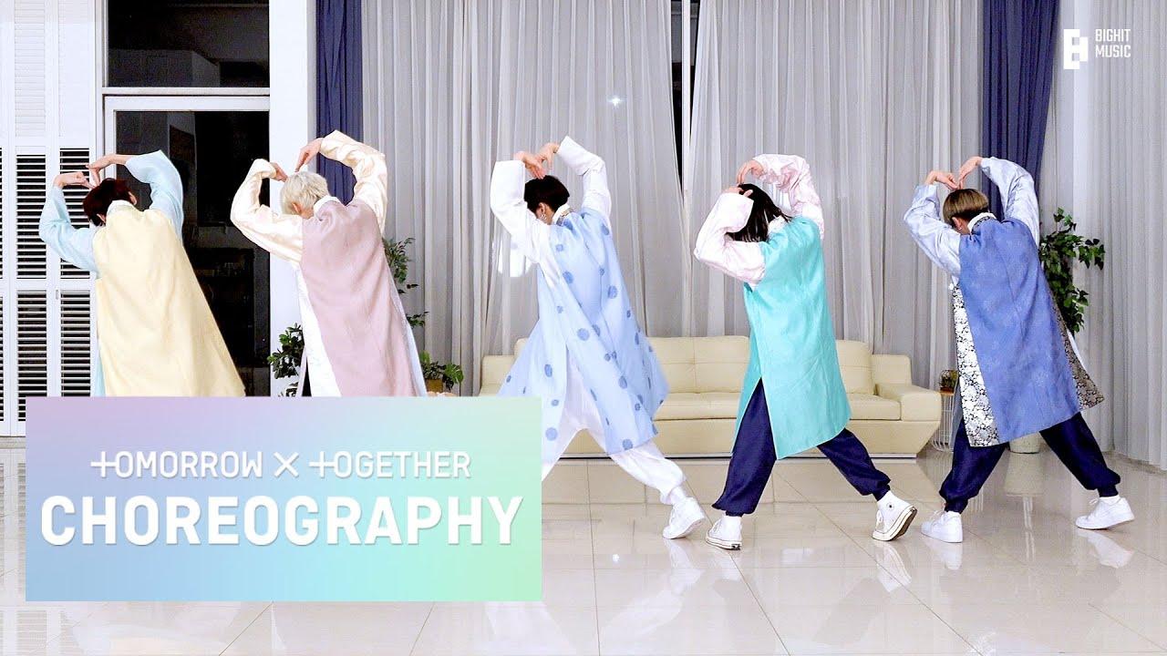 Download TXT (투모로우바이투게더) '교환일기 (두밧두 와리와리)' Dance Practice (Chuseok ver.)
