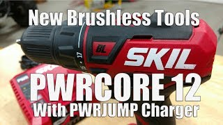 "SKIL PWRCore 12 Brushless 12-Volt 1/2"" Drill Driver With PWRJump Battery Charger Model DL529002"