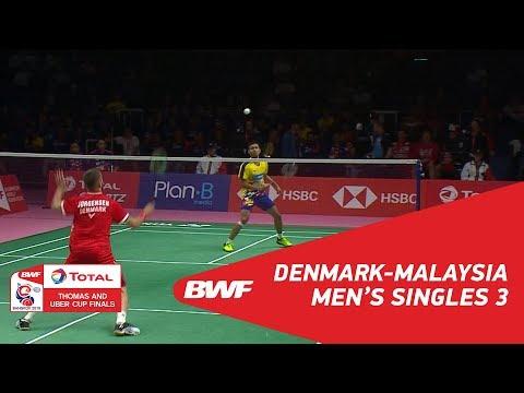 Thomas Cup | MS3 | Jan O JORGENSEN (DEN) vs Iskandar ZULKARNAIN (TPE) | BWF 2018