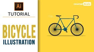 How to Make Bicycle Flat Design | Adobe Illustrator Tutorials | Course Deals