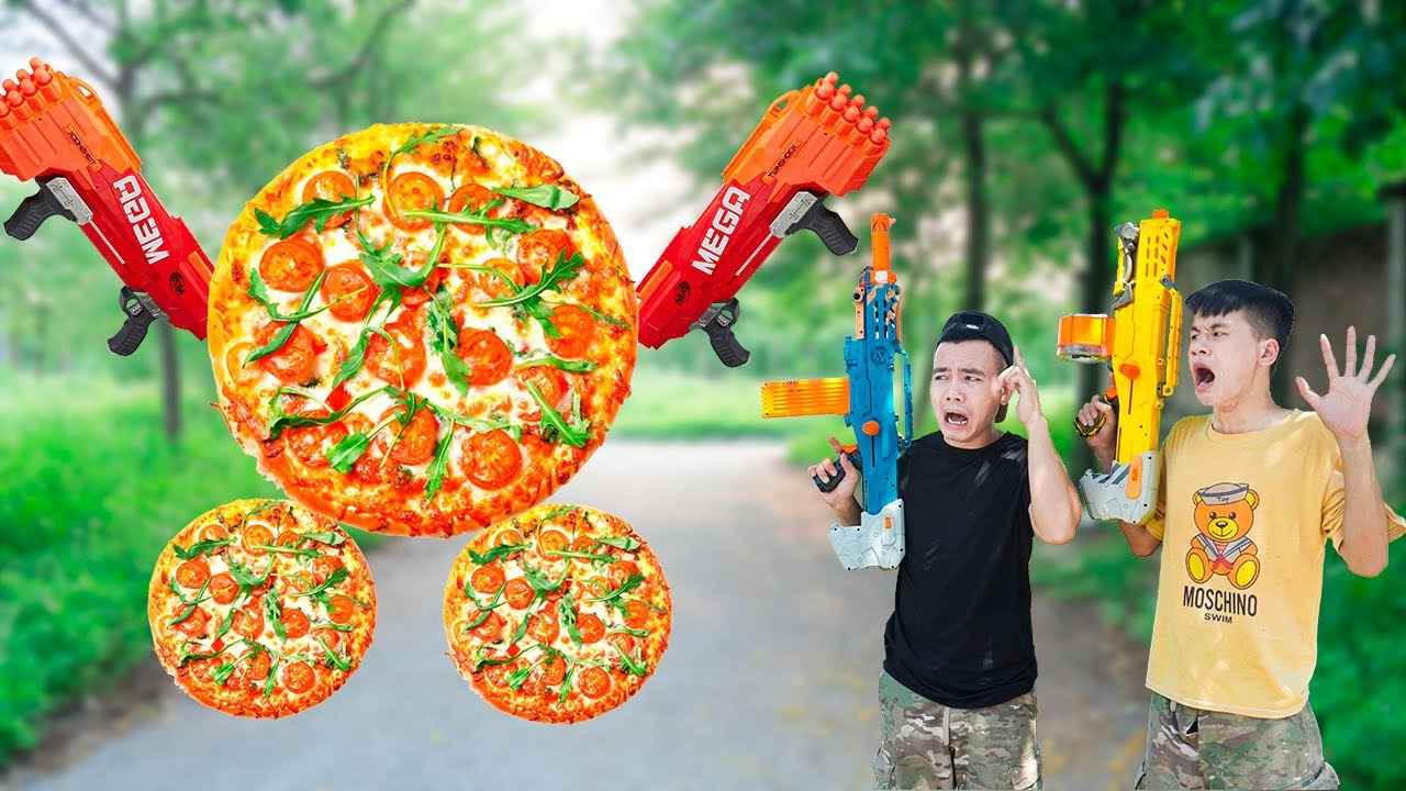 Battle Nerf War: Competition Nerf Guns BEEF PIZZA BATTLE