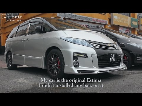 Toyota Estima Installed Full Set Ultra Racing Strut Bar