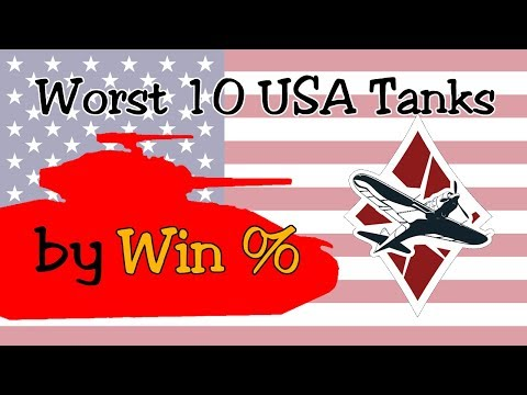 Worst 10 USA Vehicles By Win Rate [Arcade] | War Thunder Ground Forces
