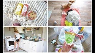Vlog:  HEALTHY TARGET GROCERIES & CLEAN WITH ME