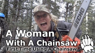 """New Chainsaw ECHO 14"""" - Woman and a power tool- Our Journey :: Episode #11"""