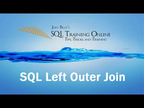 Sql Training Online - Sql Left Outer Join