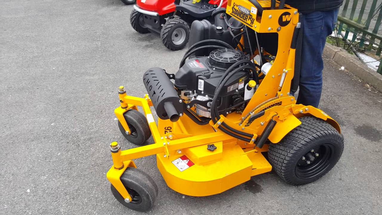 Wright stand-on mower start up and test drive