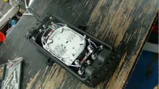 Сварка оптоволокна. Укладка сплайс кассеты(, 2012-10-04T07:58:45.000Z)