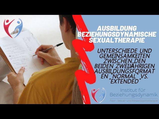 Ausbildung Beziehungsdynamische Sexualtherapie: Unterschiede & Gemeinsamkeiten