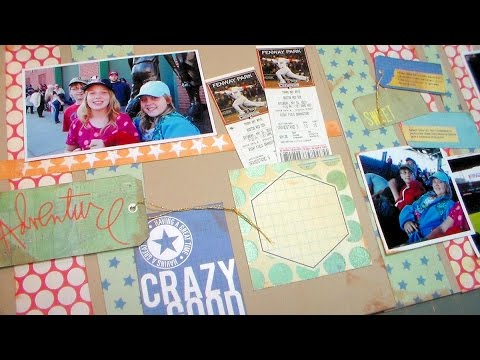Scrap & Chat: 1st Red Sox Game! {Tips for scrapbooking with only patterned paper}