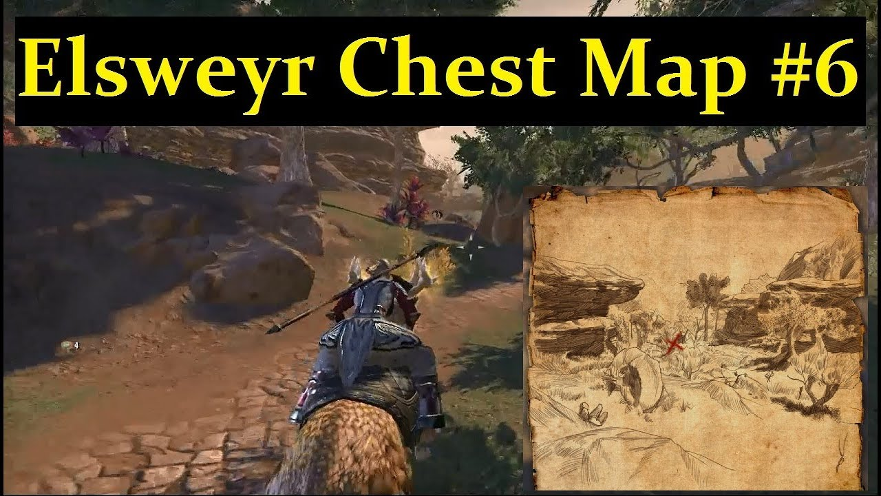 ESO ELSWEYR - Treasure Map #6 Chest Location! (Elder Scrolls Online)