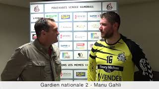 Interview gardien Pouzauges Vendee Handball