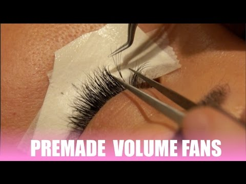 Premade volume fans by Celebrity Lash REVIEW