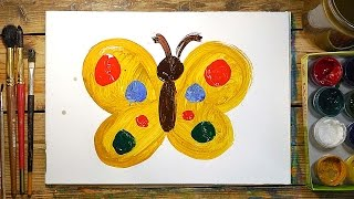 Как очень просто нарисовать Бабочку | Простые рисунки красками | Урок рисования для детей(РыбаКит - Папа рисует: http://www.youtube.com/ribakit3 Сегодня я нарисую желтую бабочку. Простые рисунки красками - это..., 2016-03-05T07:25:48.000Z)