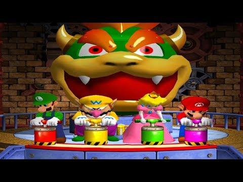 Mario Party 4 - Minigames - Mario vs Luigi vs Peach vs Daisy (Master CPU)