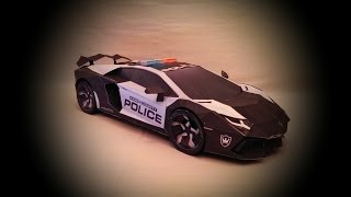 Production of the Lamborghini Aventador - Papercraft Style