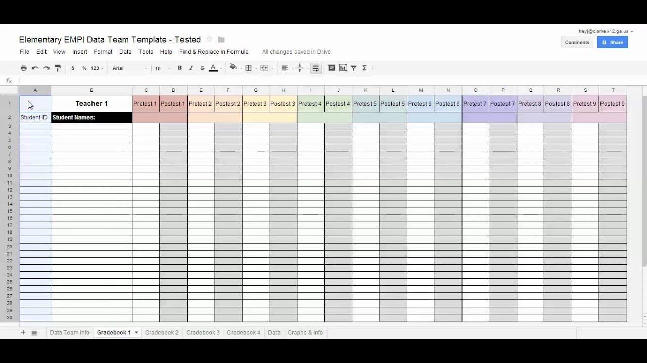 Freezing Rows and Columns in Google Spreadsheets - YouTube