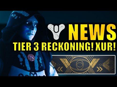 Destiny 2 News: Tier 3 Reckoning REQUIREMENTS! - Xur Bounties! - Allegiance Quest Rewards! thumbnail