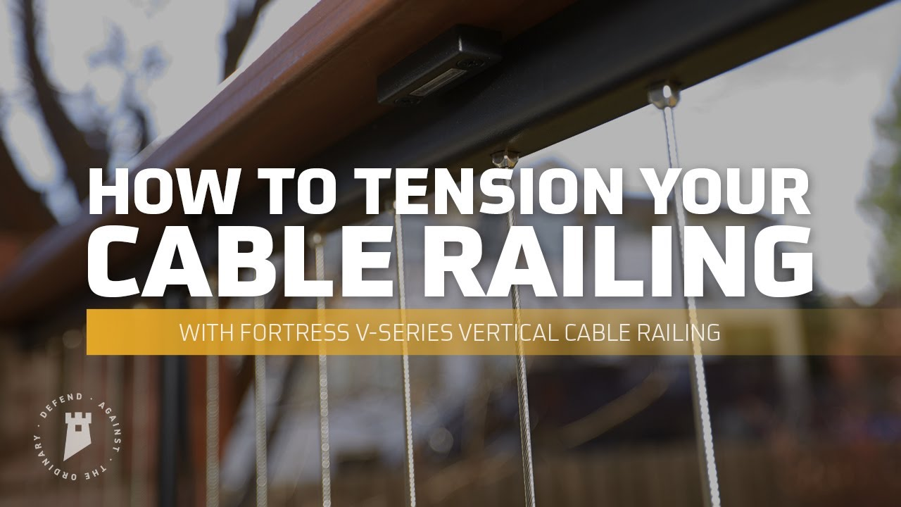 Fortress Railing Products Cable Railing Tension Training - YouTube