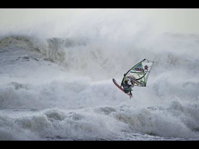 Windsurfing through hurricane conditions - Red Bull Storm Chase Final 2014