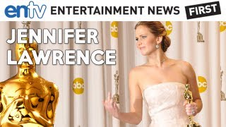 OSCARS 2013 Best Actress Jennifer Lawrence : Trips And Falls, Middle Finger Interview, Al Roker
