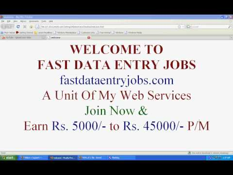Earn Money From home part time jobs form filling jobs data entry jobs India.