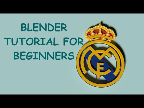 Real Madrid logo in blender PAR 02