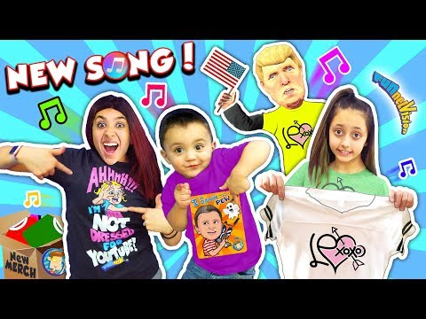 Shawn's NEW FUNnel Vision NERF Song + Lexi's New Clothing Line 💙LEXoxo❤️ (I Be Down with the Pew)