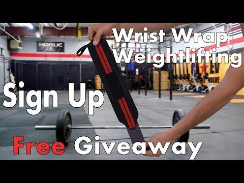 Wrist wrap weightlifting Giveaway! WinWristWraps.info