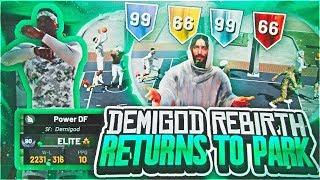 MY DEMIGOD REBIRTH BUILD RETURNS TO PARK! BEST BUILD IN NBA 2K19? THE ULTIMATE CHALLENGE..